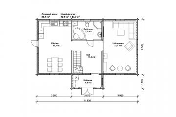 Tallhöjden 80 - Construction plan - 1st floor