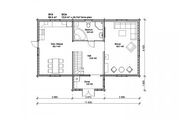 Tallhöjden 80 - Planlösning - Våning 1