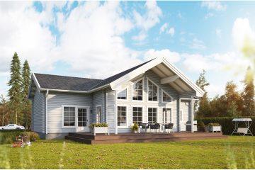 Fura timmerhus - fritidshus i byggsats från Jörnträhus. Husbyggsats / husmodell som passar till fritidshus, villa, sommarhus, fjällstuga, stuga
