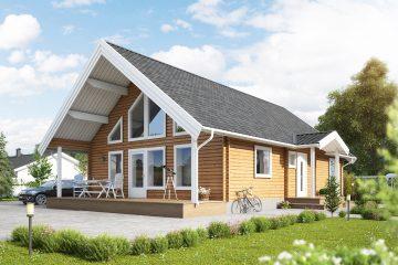 Talltoppen L - fritidshus i byggsats från Jörnträhus. Husbyggsats / husmodell som passar till fritidshus, villa, sommarhus, fjällstuga, stuga