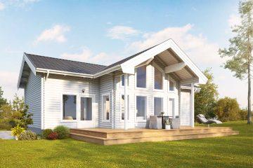 Fura S timmerhus - fritidshus i byggsats från Jörnträhus. Husbyggsats / husmodell som passar till fritidshus, villa, sommarhus, fjällstuga, stuga