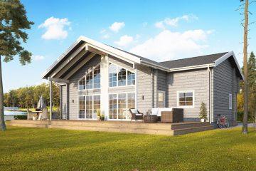 Strycksele XL med Loft – fritidshus, hus, villor – flexibla byggsatser från Jörnträhus