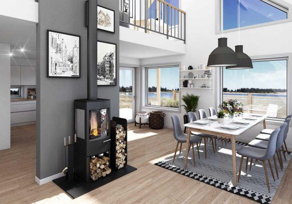 Granå S - interiör - Jörnträhus - byggsats hus / fritidshus / villa