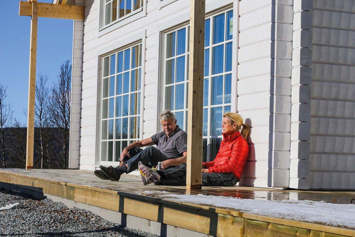 Fritidshus Strycksele XL Loft husbyggsats Jörnträhus Kundreportage Byggnation 10