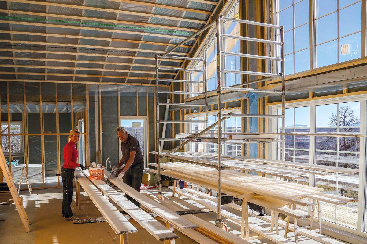 Fritidshus Strycksele XL Loft husbyggsats Jörnträhus Kundreportage Byggnation 6
