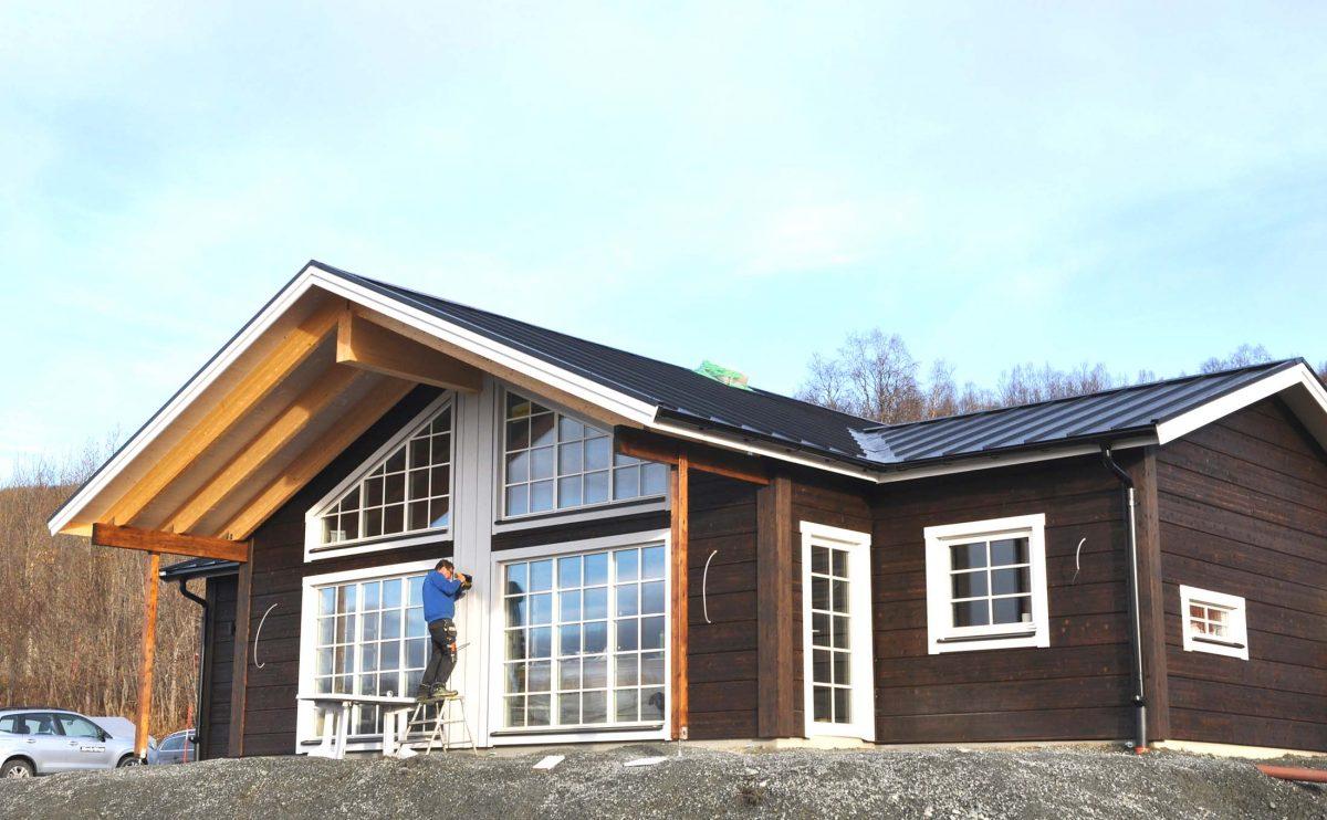 Fritidshus Strycksele XL husbyggsats Jörnträhus Kundreportage Byggnation 1