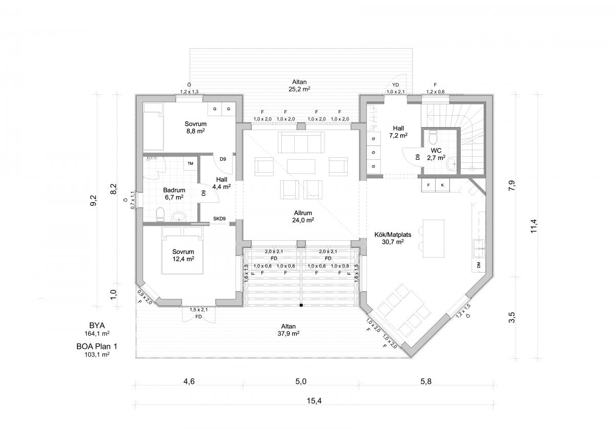 Jörnträhus Skäruddan M Suterräng Planlösning Plan 2 Villa Speciallösning Husbyggsats