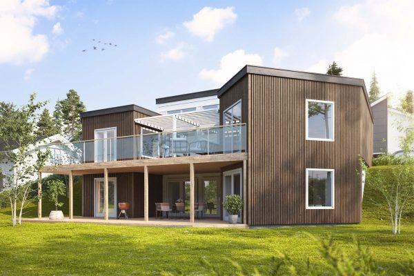 Jörnträhus Skäruddan M Suterräng Villa Speciallösning Husbyggsats