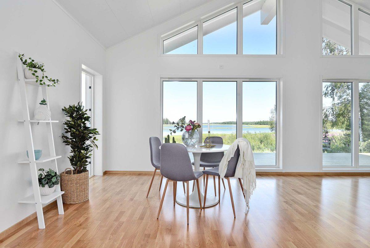 Fritidshus husbyggsats byggstats Strycksele L Jörnträhus inspiration sommarstuga stuga Obbola Västerbotten