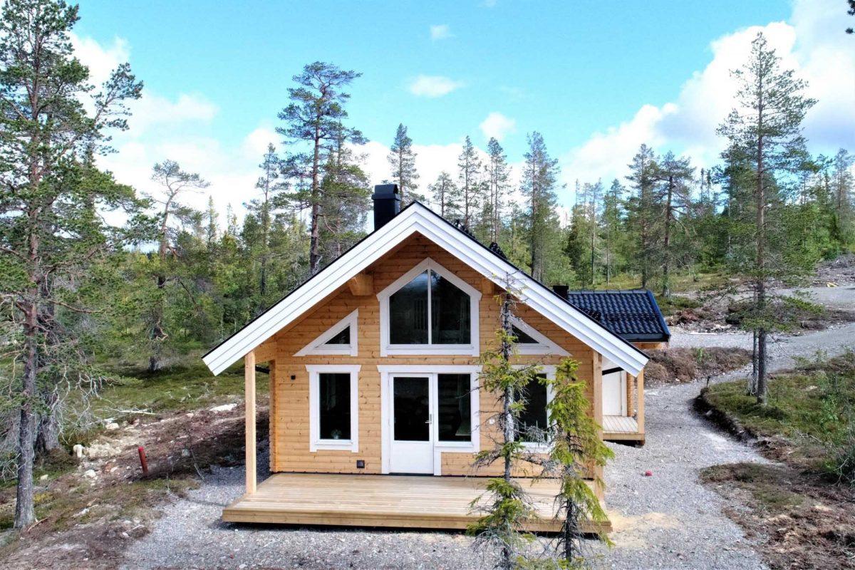 Fritidshus Byggsats Kundanpassning Jörnträhus Talltoppen Mix S XS Storhogna 06