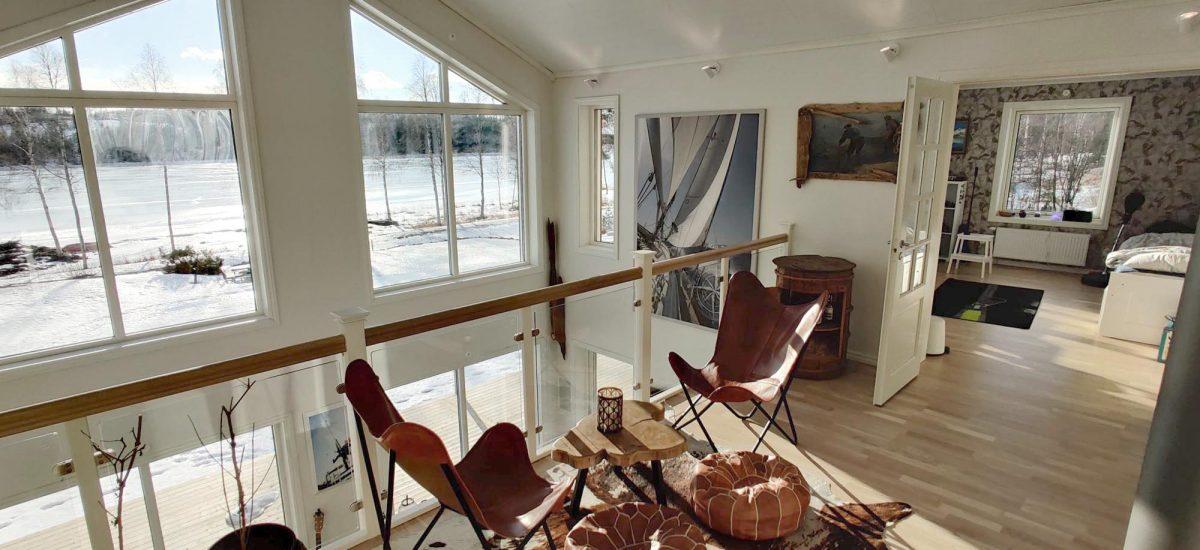 Villa Bostadshus byggsats husbyggsats Jörnträhus Bergsholmen på Alderholmen interiör 3