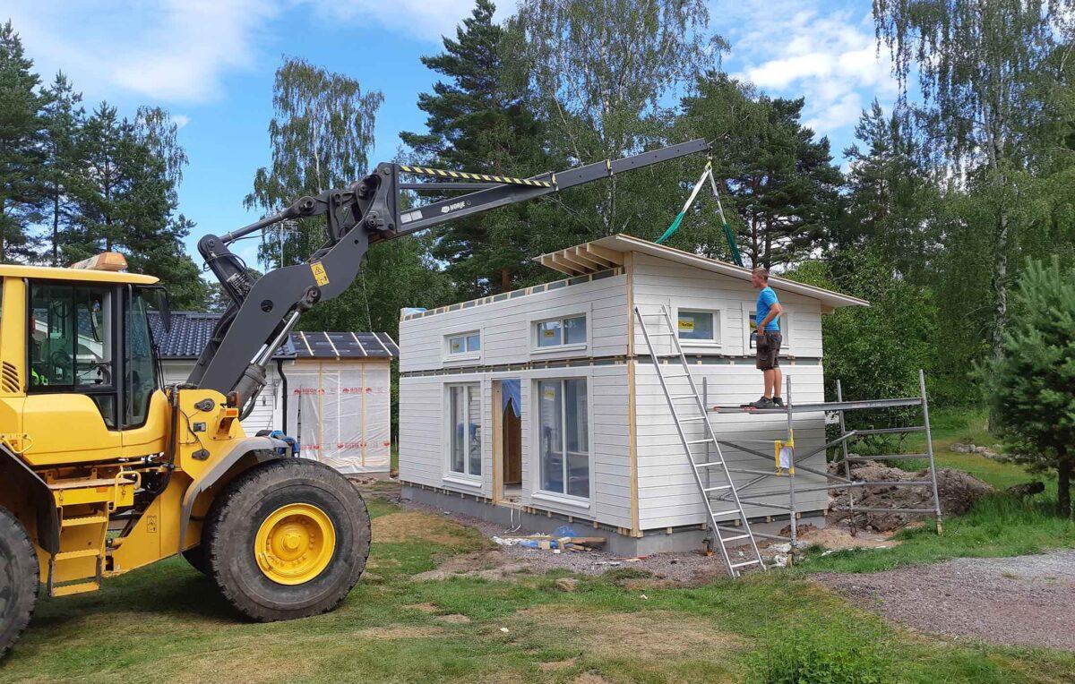 Jörnträhus Husmodell Bolund Byggsats Hus Husvän Sommaren 2020 Byggnation Blockhus 30kvm utvald