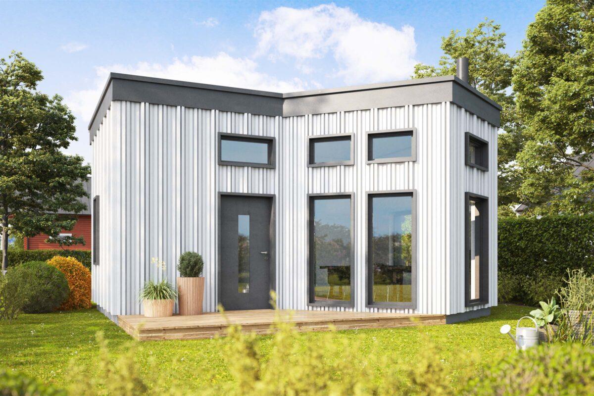 Fritidshus sommarstuga fjällstuga byggsats husbyggsats Jörnträhus Skärudden XXS