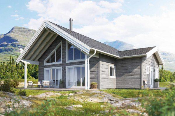 Kloverfors 124 loft Fritidshus Byggsats Hus fran Jorntrahus