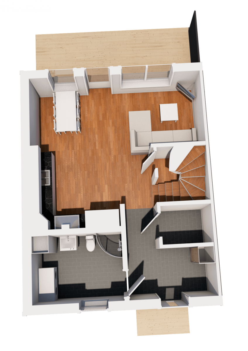 Koncepthus Radhus Hustillverkare Jorntrahus Pro Plan 1