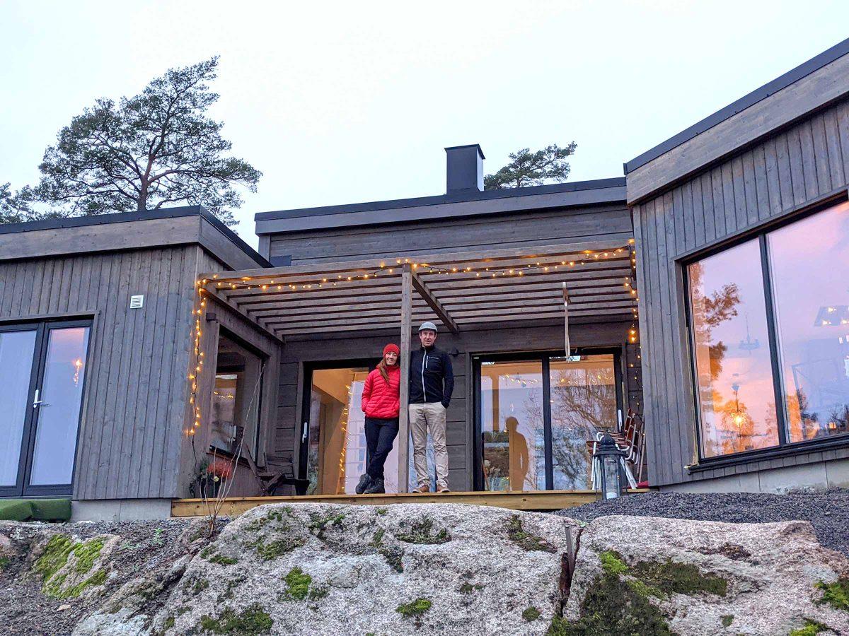 Bygga fritidshus Skarudden Familjen Nyhammar Villa Hus Boende Husbyggsats Jorntrahus Inspiration Kundexempel 2020 1